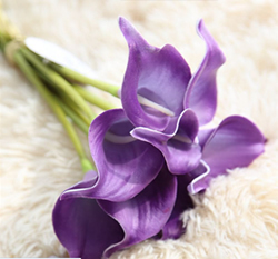 Artificial Flower Calla Lily ,Blue Violet ,High quality Latex ,A bunch with 10 heads ,Free Shipping to worldwide area. Momda recommended trustworthy Supplier.