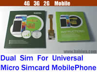 Babiwa Product ID:BW-3GL-MicorSim  - Newest Babiwa Q Non-Cutting Dual Sim Card Adapter for Universal 2G 3G 4G Mobile Phones using small Micro Simcard Support Universal 4G FDD-LTE 3.5G HSDPA 3G WCDMA UMTS 2G GSM EDGE GPRS Mobile Network .Support Any Operation System