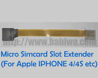 BABIWA Product ID: Linker Type 9   -Normal Simcard to Micro-simcard Slot Convertor Linker (Strengthened Version). The Extention Cable from Micro-simcard Slot to Normal Simcard with free Micro-simcard tray(Left Direction) e.g. for Apple Iphone 4/4s Ipad ,Ipad Mini etc) . from Babiwa.com Devoted Linker Extender Supplier