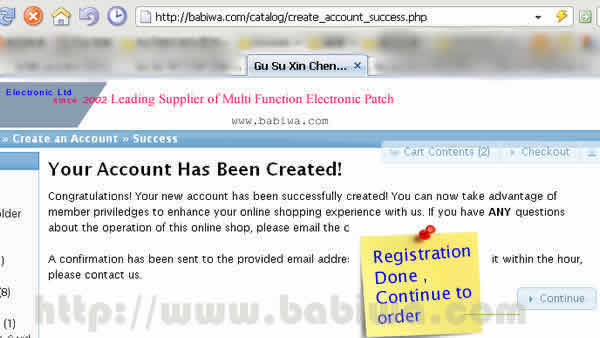 Babiwa Online Shop Order Instruction