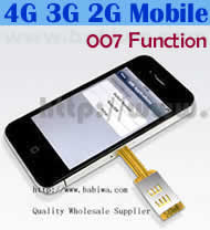 Dual Sim Card Adapter for Apple IPHONE 4/4S BW-AGL-4H SUPPORT 3.5G HSDPA 3G WCDMA UMTS 2G GSM