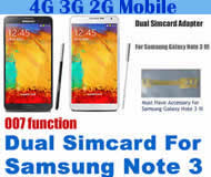 BW-N3W-05H Dual Sim Card Adapter for Samsung Galaxy Note 3 with 007 function (dial number 001 or 002 to change simcards)