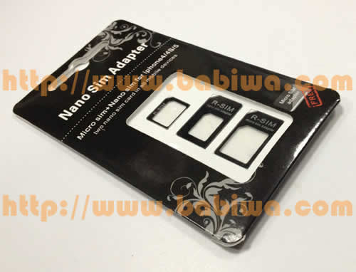 Genuine R-Sim 3 in 1 Nano simcard Convertor including packing,nano-sim adapter wholesale for apple Iphone 5