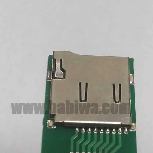 Babiwa Memorycard Product No. 1S-01 . PCB based SD memorycard Connector . also named as Universally Standarded SD memorycard Connector Soldered on PCB board. SD card Jack on PCB board,SD Memorycard Slot soldered on PCB,SD Socket on PCB,SD memorycard Holder soldered on PCB etc. Support Any devices (brands,models) using univesal SD memorycard.Samples Free shipping to worldwide area.Support Largeamount Wholesale & Bulkorder & Customized&DIY order .