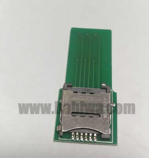 Babiwa Simcard Product No. 1M-01  .10 pieces of PCB based Micro-Simcard Connector . also named as Universally Standarded Micro-simcard Connector Soldered on PCB board. Micro Simcard Jack on PCB board,Micro-Simcard Slot soldered on PCB,MicroSimcard Socket on PCB,Micro Simcard Holder soldered on PCB etc. samples free shipping to worldwide area.