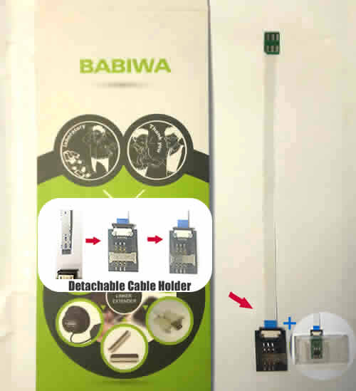 Babiwa@ series Nano-simcard Extension Cable For Universal Apple Iphone 5 , Iphone 5S and Iphone 5C series Mobilephone using nanosimcard.also called Nano Simcard Extension Cable,Nano Simcard Connector Extender,Universal Nano Simcard Jack Extension Cable,Extender of Nano Simcard Slot,Linker of Nano Simcard Socket,Extender for Nano Simcard Holder,Smartcard tester,Nano Simcard to Smartcard Extension Cable.(Free Shipping via Trackable Registered Airmail to Worldwide Area WWW.BABIWA.COM)