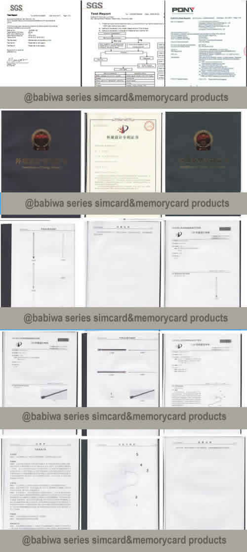 babiwa.com Provide Design and Producting upon your request of Memory card and simcard extender linker test convertor