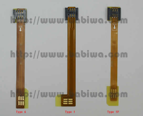 Type 5 Universal Mini Simcard Slot Extender.The Luxury Version of Extention Cable from universal mini-simcard Slot to mini Simcard. Support Any devices (brands,models) using univesal mini simcard in Left&Vertical Bevel Direction.(Free Shipping via Trackable Registered Airmail to Worldwide Area)