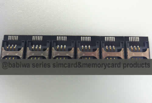 Babiwa Simcard Product No. 1D-01  .10 pieces of PCB based Mini-Simcard Connector . also named as Universally Standarded Mini-simcard Connector Soldered on PCB board. Simcard Jack on PCB board,Simcard Slot soldered on PCB,Simcard Socket on PCB,Simcard Holder soldered on PCB etc.Support Any devices (brands,models) using univesal mini simcard.Support Any Mobile Network .Samples Free shipping to worldwide area.Support Largeamount Wholesale & Bulkorder & Customized&DIY order .