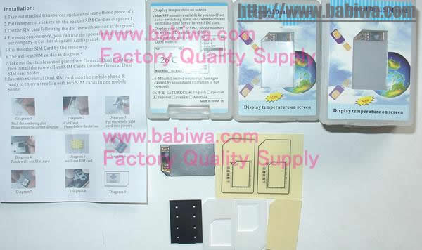 Genuine BABIWA Common 2G Dual Sim Adapter for Universal 2G