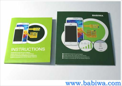 BW-AHM-06H - Genuine BABIWA© Q series Triple Sim Card Adapter for NEW HTC ONE M8(All New HTC One,HTC All New