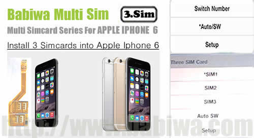 BW-MGL-06H gray : Genuine BABIWA© Q series Apple Iphone 6 (Space Gray)  triple Sim Card Adapter ,with Specially Molded gray Nano-Sim Tray(for the purpose of easy installation).Support 4g fdd-lte 3.5g hsdpa 3g umts wcdma 2g gsm gprs.