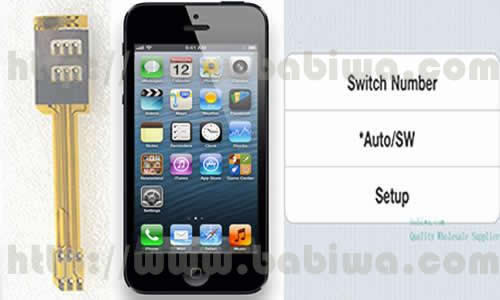 Genuine Dual Sim Card Adapter for Apple Iphone 5 Nano-Sim.Support 3g umts wcdma 2g gsm gprs gsm