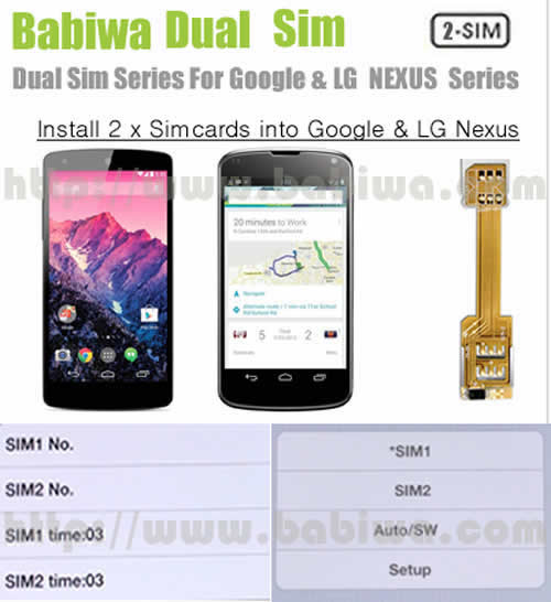 babiwa BW-3GL-Nano Nanosimcard Dual Simcard Adapter to install 2 sim in phone