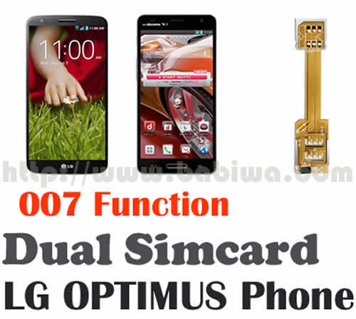 BW-L2P-05K  BABIWA© magicsim series Dual Simcard Adapter series for LG OPTIMUS Series Mobile Phone with 007 function (dial number to change simcard),including LG OPTIMUS G2 series,OPTIMUS G Pro series,OPTIMUS G series,OPTIMUS GJ series, e.g. G2 , G1 , D802 , D802TA , D803, E975, E973, E971, F180, E960, F240L, F240, L-04E, E980 etc --Support Universal Mobile Network FDD-LTE 4G HSDPA HSPA 3.5G WCDMA 3G GSM 2G