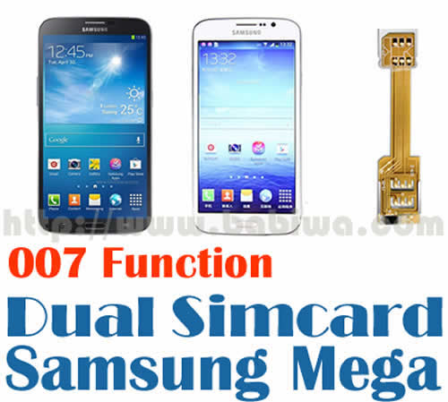 BW-N2M-02T  BABIWA© magicsim series Dual Simcard Adapter series for Samsung Galaxy Mega series Mobile Phone,including Samsung I9200,I9150,I9152,SGH-I527 etc,Galaxy Mega 6.3,Galaxy Mega 5.8 --Support Universal Mobile Network FDD-LTE 4G HSDPA HSPA 3.5G WCDMA 3G GSM 2G.WITH Special 007 dial number to change simcard Function