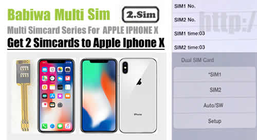 BW-AGL-10X : Genuine BABIWA© Q series Apple iphone X Dual Sim Card Adapter ,with Specially Molded Nano-Sim Tray(for the purpose of easy installation).Support Universal Apple iphone X,Iphone 10,Iphone ten,Apple A1865,Apple A1901 etc.Support 4g fdd-lte 3.5g hsdpa 3g umts wcdma 2g gsm gprs.