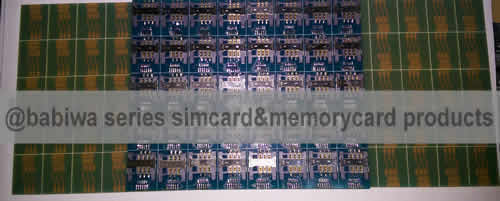 Babiwa Simcard Product No. 1D-01  . PCB based Mini-Simcard Connector . also named as Universally Standarded Mini-simcard Connector Soldered on PCB board. Simcard Jack on PCB board,Simcard Slot soldered on PCB,Simcard Socket on PCB,Simcard Holder soldered on PCB etc. samples free shipping to worldwide area.