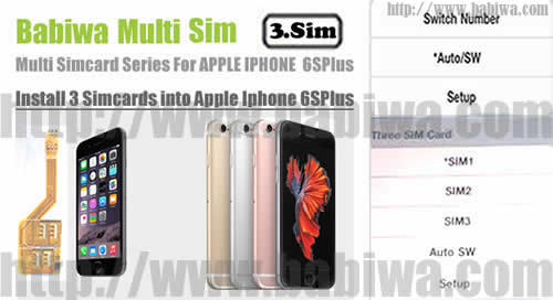 BW-MGL-61S Gold : Genuine BABIWA© Q series Apple iphone 6s plus (Gold)  triple Sim Card Adapter ,with Specially Molded Gold Nano-Sim Tray(for the purpose of easy installation).Support 4g fdd-lte 3.5g hsdpa 3g umts wcdma 2g gsm gprs.