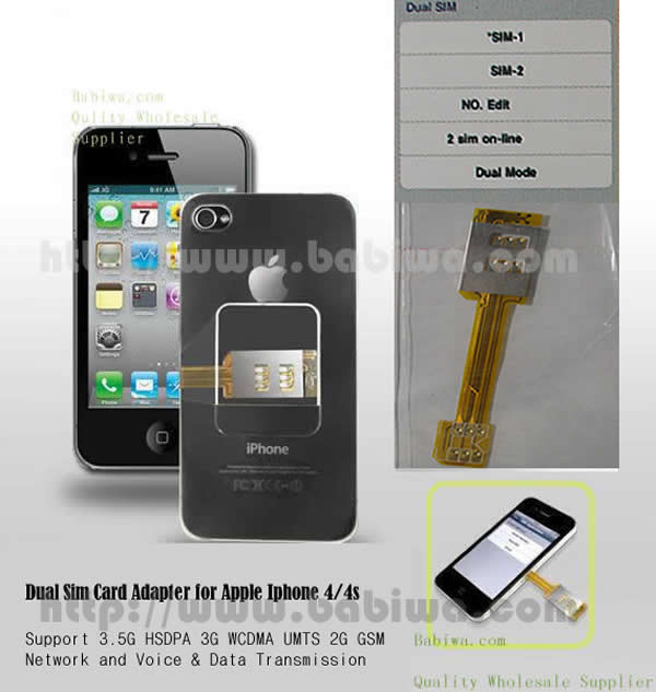 Genuine Magicsim Series Dual Sim Card Adapter for Apple Iphone 4/4s .Support 3.5g hsdpa 3g umts wcdma 2g gsm gprs gsm