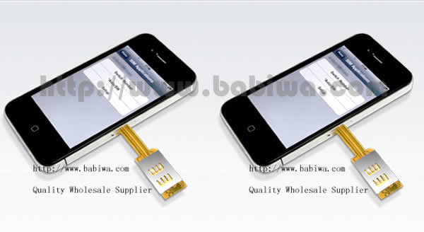 Genuine Q Series Dual Sim Card Adapter for Apple Iphone 4/4s .Support 3g umts wcdma 4g fdd-lte 2g gsm gprs gsm