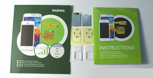 BW-3CL-SE  Genuine BABIWA© magicsim series Dual Sim Card Adapter for Sony Mobile Sony Ericsson Smartphone Cellphone