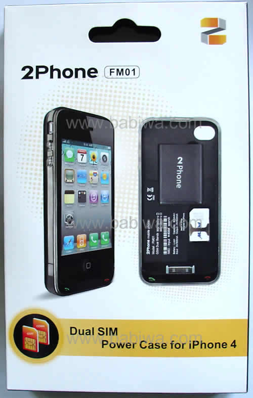 Front side of 2phone(support apple iphone 4 get 2 numbers both online)