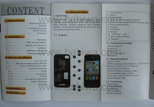 Instruction 3 of 2phone(support apple iphone 4 get 2 numbers both online)