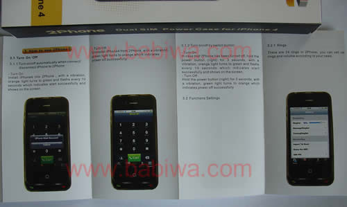 Instruction 1 of 2phone(support apple iphone 4 get 2 numbers both online)