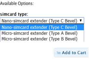 babiwa.com option for choose simcard type