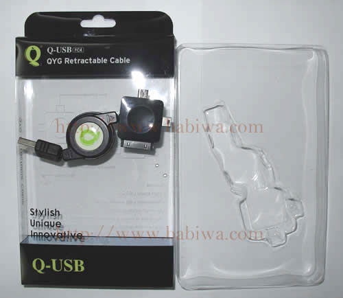 Genuine Q-Series Multi Function Retractable Connector, Including Apple Dock Connector,Mini USB Connector,Micro USB Connector with maximum 60cm line .Charging and Data Transmission compatible with iPhone, iPod, blackberry and universal mobile phones