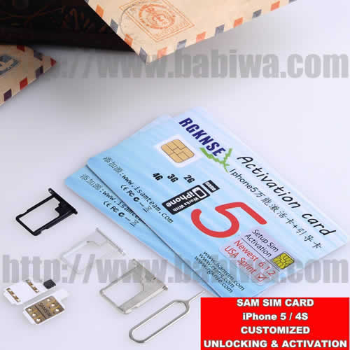 Newest Genuine Samsim Unlocking card for iphone 5/4s,World Only Unlocking card Supporting Unlocking Universal 3G WCDMA simcard and 2G GSM simcards.
