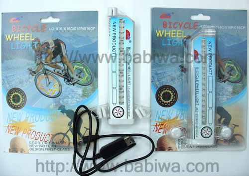 Bicycle Spoke Light Hot Cool Kaleidoscope wheel Support Your Own Design