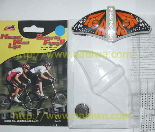 Bicycle Spoke Light Hot wheel LC403 Series Word-Diy Version