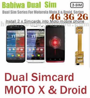 (2 Simcard for MOTO G& MOTO X & MOTO Droid series phone Micro-simcard version) Dual Sim Card Adapter for Motorola MOTO G series,Moto X series and Moto Droid Series Mobile Phone,Two Simcards Holder, Support Universal Network-- FDD-LTE 4G HSDPA HSPA 3.5G WCDMA 3G GSM 2G