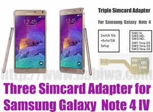 BW-N4M-05 Triple Sim Card Adapter for Samsung Galaxy Note 4