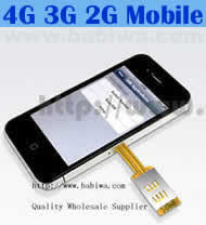 Dual Sim Card Adapter for Apple IPHONE 4/4S BW-AGL-4 SUPPORT 3G WCDMA UMTS 2G GSM