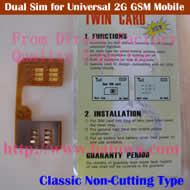 BW-2GC-1 Dual Sim Card Adapter for Universal Mobile Phones (Classic GSM Non-cutting Type)