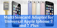 Multi simcard adapter for Apple iphone 7 and Apple iphone 7 Plus