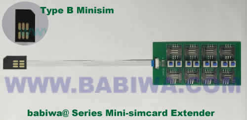 Babiwa@ No.YB-32B Universal Micro-simcard to External 8x Minisimcard(microsimcard,nanosimcard) Extension Cable.Support Any devices (brands,models) using Micro simcard in Type B Bevel Direction.Support Extending to Most Up to 8x External Simcards. also called Micro-simcard to 8 simcards Extension Cable, 8 simcards Linker to Micro Simcard Tray, Micro Simcard Connector Extender to 8 sim.Universal Micro Simcard Jack Extension Cable to Multi Simcards, Extender of Micro Simcard Slot to External 8 simcards ,8 Simcard Linker of Micro Simcard Socket,8 SIM Extender for Micro Simcard Holder.(Free Shipping via Trackable Registered Airmail to Worldwide Area WWW.BABIWA.COM)
