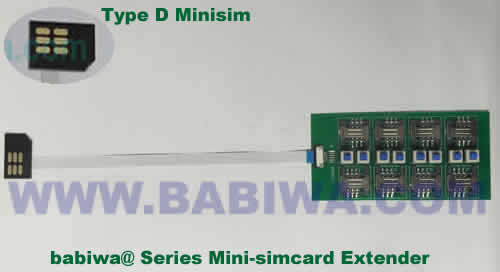 Babiwa@ No.YB-32D Universal Micro-simcard to External 8x Minisimcard(microsimcard,nanosimcard) Extension Cable.Support Any devices (brands,models) using Micro simcard in Type D Bevel Direction.Support Extending to Most Up to 8x External Simcards. also called Micro-simcard to 8 simcards Extension Cable, 8 simcards Linker to Micro Simcard Tray, Micro Simcard Connector Extender to 8 sim.Universal Micro Simcard Jack Extension Cable to Multi Simcards, Extender of Micro Simcard Slot to External 8 simcards ,8 Simcard Linker of Micro Simcard Socket,8 SIM Extender for Micro Simcard Holder.(Free Shipping via Trackable Registered Airmail to Worldwide Area WWW.BABIWA.COM)