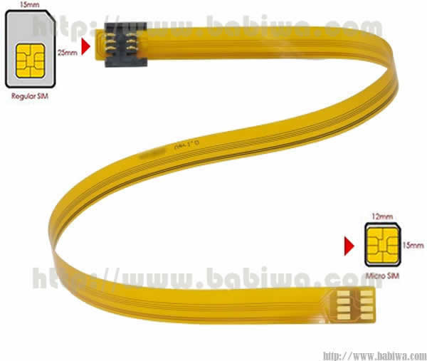 Linker Type 11 Universal Mini Simcard to Micro-simcard Slot Convertor Linker.The Luxury Version of Extention Cable from any bevel direction Micro-simcard Slot to Universal Mini Simcard.Support Any devices(Models,Brands)using Micro Simcard in any bevel directions(Free Shipping via Trackable Registered Airmail to Worldwide Area)