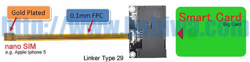 Type 29 Universal Smartcard to Nano-Simcard Slot Extender Linker ,The Luxury version of Transfer Unit from BIG CARD (Smartcard) to Nano-Simcard Slot  ,Support Any device using Nano SimCard as Apple Iphone 7,Iphone 7 Plus , Iphone SE ,Iphone 6S & Iphone 6S Plus, Iphone 6 & Iphone 6 Plus ,Iphone 5 5C 5S... (Free Shipping via Trackable Registered Airmail to Worldwide Area)