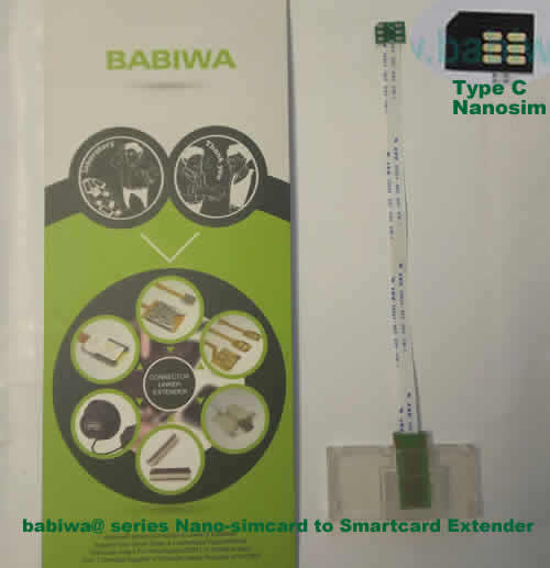 Babiwa@ No.33C Universal Nano-simcard to Smartcard(Big-simcard) Extension Cable.Support Any devices (brands,models) using Nano simcard in Type C Bevel Direction.also called Smartcard tester on Nano-simcard holder, Nano Simcard to Smartcard Extension Cable, Nano Simcard to Smartcard Extender, Nano Simcard Connector to Smartcard Extender .Universal Nano Simcard Jack to Smartcard Linker,Extender of Nano Simcard Slot to Bigcard,Linker of Nano Simcard Socket to Smartcard Holder,Extender for Nano Simc