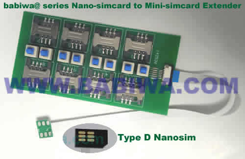 Babiwa@ No.YB-30D Universal Nano-simcard to External 8x Minisimcard(microsimcard,nanosimcard) Extension Cable.Support Any devices (brands,models) using Nano simcard in Type D Bevel Direction.Support Extending to Most Up to 8x External Simcards. also called Nano-simcard to 8 simcards Extension Cable, 8 simcards Linker to Nano Simcard Tray, Nano Simcard Connector Extender to 8 sim.Universal Nano Simcard Jack Extension Cable to Multi Simcards, Extender of Nano Simcard Slot to External 8 simcards ,8