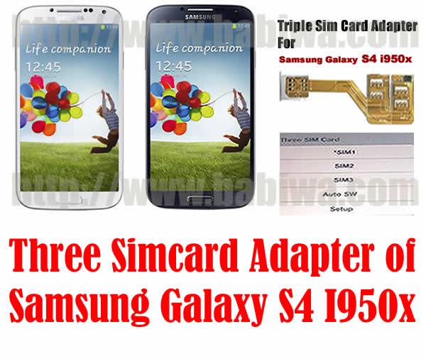 BW-S4L-06H  Genuine BABIWA© Q series Three Sim Card Adapter for Universal Samsung S4 SIV SIIII I9500 I9505 I950x i337 i545 L720 E300x Smartphone Support 2G 3G 4G FDD-LTE WCDMA UMTS HSDPA HSPA GSM EDGE GPRS 2G