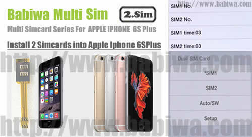 BW-AGL-61S RoseGold : Genuine BABIWA© Q series Apple Iphone 6S Plus(RoseGold) Dual Sim Card Adapter ,with Specially Molded RoseGold Nano-Sim Tray(for the purpose of easy installation).Support 4g fdd-lte 3.5g hsdpa 3g umts wcdma 2g gsm gprs.