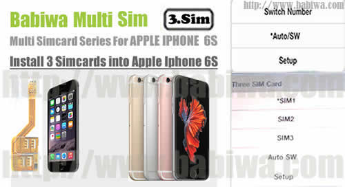 BW-MGL-06S Rosegold : Genuine BABIWA© Q series Apple Iphone 6S (Rosegold)  triple Sim Card Adapter ,with Specially Molded Rosegold Nano-Sim Tray(for the purpose of easy installation).Support 4g fdd-lte 3.5g hsdpa 3g umts wcdma 2g gsm gprs.