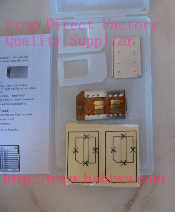 dual sim card adapter for universal gsm mobile phone