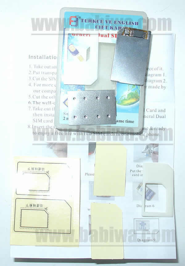 dual sim card adapter for universal 3g mobile phone